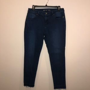 🍒 Michael Kors Izzy Exposed Hem Skinny Jeans